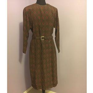 Vintage Belted Dress